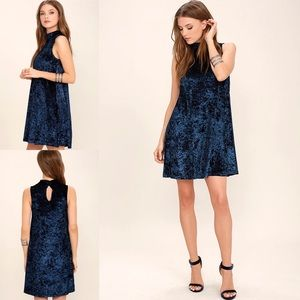 Lulus | Dream of Decadence Navy Velvet Dress